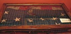 La bandera de la Saranac, apresada por el Elcano, Museo Naval de Madrid