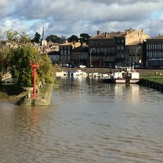 Cruising on the Viking Forseti up the Gironde Estuary and the Dordogne River from Blaye to Libourne. As we are leaving Blaye you can see that the tide has risen since we arrived!