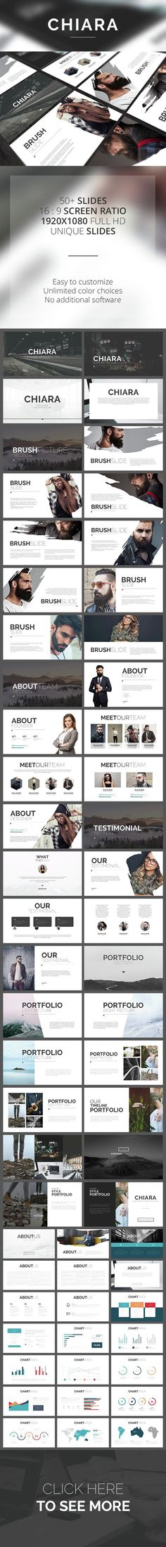 Business infographic : Chiara PowerPoint Template (PowerPoint Templates)   Stunning Resources for designers  OrTheme