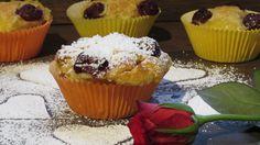 Kirschmuffins mit Vanillepudding - der Aufwand lohnt sich!