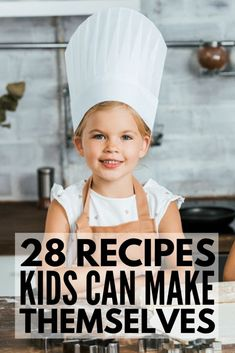 Kinder kochen und backen by The post Cooking with Kids: 28 Meals Kids Can Make Themselves appeared first on Kathryn Recipes. Fun Dinners For Kids, Recipes Kids Can Make, Fun Easy Recipes, Food To Make, Easy Kids Meals, Easy Cooking For Kids, Simple Recipes For Kids, Cooking With Toddlers, Kid Cooking