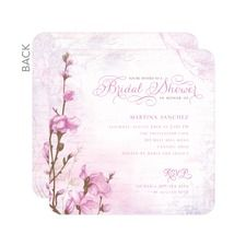 Romantic Buds Bridal Shower Invitations