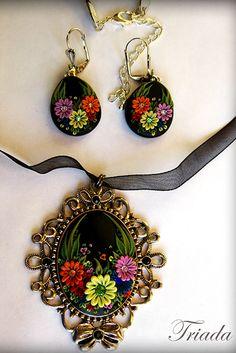 Цветочная филигрань серьги, автор: Дина Тиморевская