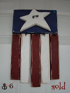 wooden Flag decoration