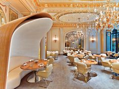The Curtain Rises: Jouin Manku Redesigns Dining at Plaza Athénée Hotel | Projects | Interior Design