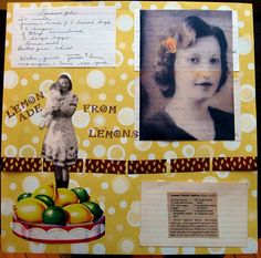 """""""8 Tips For Making Recipie Scrapbook Pages""""...There is so much you can do! Consider making just a scrapbook with recipies only. Add a photo of the person you got the recipie from and write a little something about them. Journal about a special recipie and the occasion it was served at. The great thing about recipe scrapbooks is you can make more than one and give them to family members, your children or anyone else who would enjoy a fun collection of recipes. Recipe scrapbooks make great…"""
