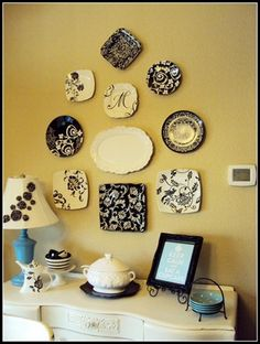 I love plates on walls... maybe above my kitchen table?