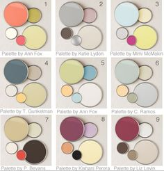 Like No.5: Cream white for living room + Corri door / Green for Kitchen / Darker blue for bedroom / Yellow for study room / Light blue for Bathroom ^0^ Color pallets @ Home Design Ideas