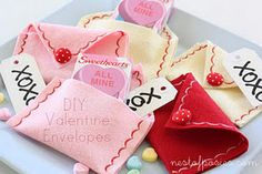 DIY Valentine Envelopes! Ok seriously so easy and special and sweet and reusable! Love Love Love!!!