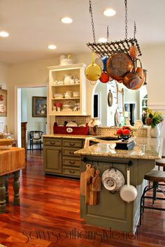 Savvy Southern Style: Answering Questions About the Kitchen ...Color Chateau Gray Annie Sloan Looks sagey green, but is call Chateau Gray