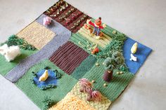 Felted Farmyard Playmat - Living Crafts Winter 2008