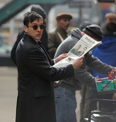"""Robin Lord Taylor as Oswald Cobblepot on Fox's """"Gotham"""""""