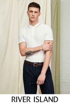 Men's new clothes from River Island - get this season's latest arrivals from your favourite high street store. Shop the full collection online. New Outfits, Spring Outfits, Occasion Wear, Wedding Season, Teaser, River Island, Polo Shirt, Seasons, Mens Fashion
