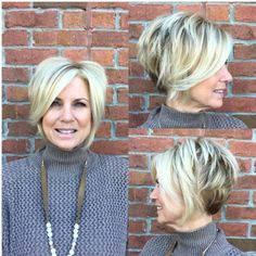 visit for more Short Layered Blonde Bob The post Short Layered Blonde Bob appeared first on kurzhaarfrisuren. Mom Hairstyles, Hairstyles Over 50, Short Hairstyles For Women, Trendy Hairstyles, Hairstyle Short, Layered Hairstyles, Short Sassy Haircuts, Short Haircut Styles, Long Hair Styles