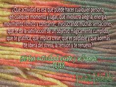 Clases de Tejido en Alquimia Esmeralda. Hacé algo por vos y para vos!!! Aprendé a tejer. Es hermoso!!!