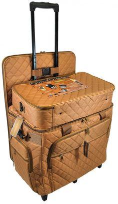 Sew Vac Direct  - Hemline Studio XL Three-Bag Quilting Set in Camel, $169.95 (http://www.sewvacdirect.com/hemline-studio-xl-three-bag-quilting-set-camel/)