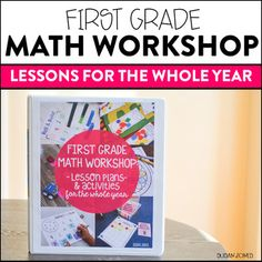 This all-inclusive 1st grade Math Workshop curriculum has EVERYTHING you need for a whole year of guided math at your fingertips!!! These lessons and activities are hands on and developmentally appropriate as I made each one with a first grade student in mind.