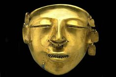 Colombian gold mask