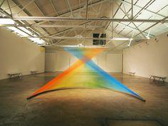 colored strings to create contours and rainbow gradients Plexus no. 25 Gabriel Dawe