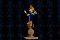 Mono Bike Wooden Toy - SOLIDWORKS,STEP / IGES,Parasolid - 3D CAD model - GrabCAD