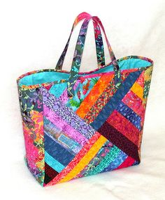 Quilted Strings Patchwork Tote | When I made a quilt several… | Flickr