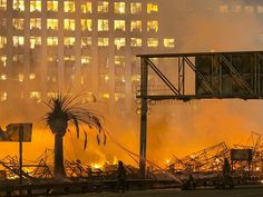 LA fires: Los Angeles firefighters battle two massive infernos