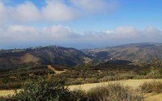 View of Laguna Canyon from Alta Laguna Park, Top of the World, Laguna Beach, California