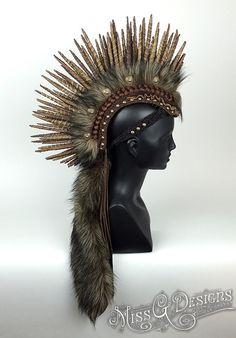 Vegan Mohawk Headdre