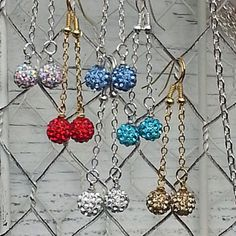 Bling Dangle Earrings