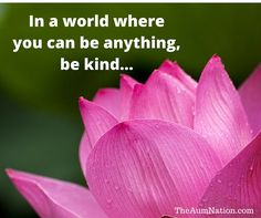 In a world where you can be anything, be kind...