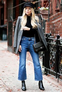 Jeans outfit winter, cropped jeans outfit и flare jeans outfit. Cropped Jeans Outfit, Flare Jeans Outfit, Jeans Outfit Winter, Outfit Summer, Jeans Pants, Mode Chic, Mode Style, Jeans Kick Flare, Crop Flare Jeans