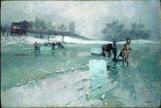 Frits Thaulow, 'Icedriving' (1884). Lillehammer Art Museum