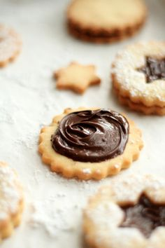 Chocolate Hazelnut Cream Cookies ♥