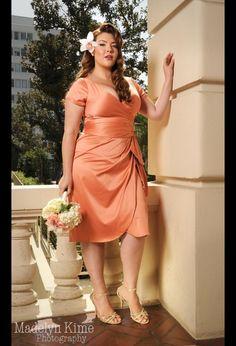 Ava Dress in Tangerine