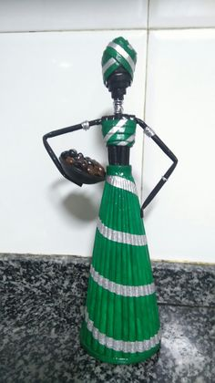 African Dolls, African American Dolls, Newspaper, Candle Holders, Lily, Color, Black, Ideas, Wire Sculptures