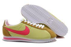 Nike Cortez V1 Lysgrøn Pink Brun Dame