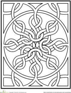 Mandala coloring pages are great for kids! With such a variety of themes and pictures there are sure to be mandalas your kids will want to personalize and design. Celtic Quilt, Celtic Mandala, Celtic Art, Celtic Dragon, Mandala Coloring Pages, Coloring Book Pages, Celtic Symbols, Celtic Knots, Mayan Symbols