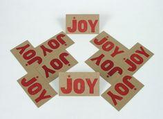 Pioneer House Joy Cards