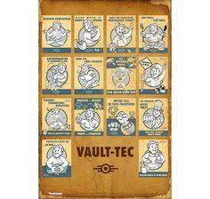 Fallout 4 Poster Vault Tec Compilation. Hier bei www.closeup.de