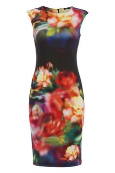 Womens Floral Digital Print Dress - Ladies - Multi - Size 14