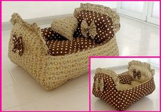 Reversible Handmade Cotton Dog Cat Bed House Sofa от Simplyworld: