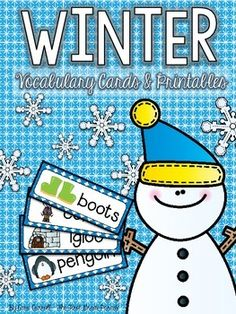 Winter Vocabulary Cards & Printables (Free)