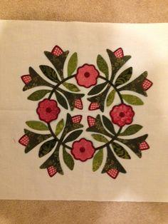 Rose of Sharon applique block by Kerry of Simple Bird Studio