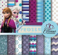 Kits Frozen para scrapbook digital