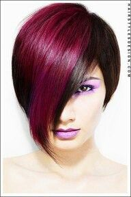 burgundy partial colouring