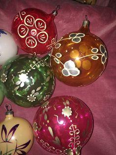 Фосфорные шары СССР (елочные игрушки)