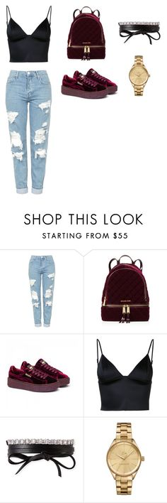 """""""Untitled #7"""" by ziren2003 on Polyvore featuring Topshop, MICHAEL Michael Kors, Puma, T By Alexander Wang, Fallon and Lacoste"""