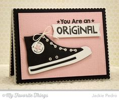 Be Original Linen Background, All-Star High Top Die-namics, Blueprints 20 Die-namics - Jackie Pedro Diy Birthday, Birthday Cards, Star Cards, Mft Stamps, Beautiful Handmade Cards, Die Cut Cards, Marianne Design, Masculine Cards, Kids Cards
