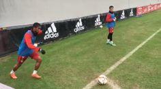 Bayern Munich star Douglas Costa uploads a corner kick rabona video to Instagram