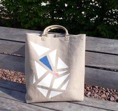 Linen canvas tote bag
